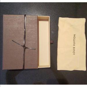 Louis Vuitton Wallet Box Case Leather cord Dustbag
